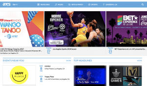 AXS Front Page